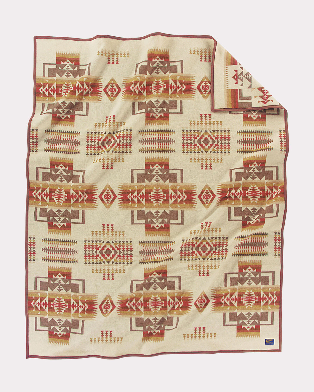 Pendleton Woolen mills chief joesph blanket cream wheat bravery arrows integrity Nez Perce Inidans wool American made western gift blanket throw robe