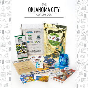 oklahoma city culture box second edition round 2 number OKC national cowboy museum hashtagthecowboy tote bag wine glass gift box subscription box experience the city