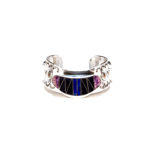 Lapis, Charoite and Sodalite Inlay Cuff