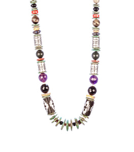 multi stone necklace varying shapes sizes western women gift unique versatile