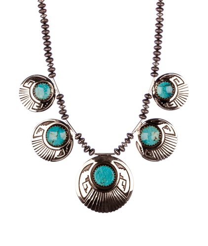 Mary Teller Turquoise and Silver Necklace