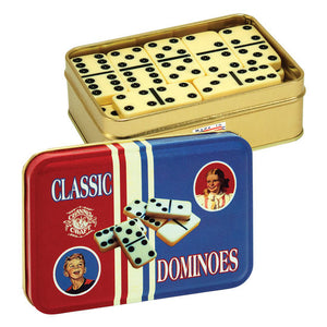 classic dominoes game in a tin travel friendly double 6 sided kids and adults vintage toys