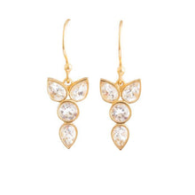 Load image into Gallery viewer, Erin crystal earrings dangle gold bridal jewelry wedding Christina greene