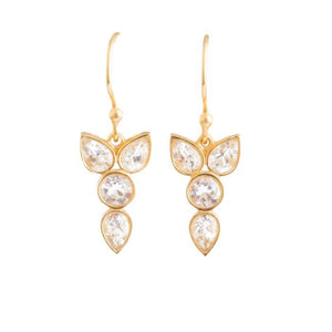 Erin crystal earrings dangle gold bridal jewelry wedding Christina greene