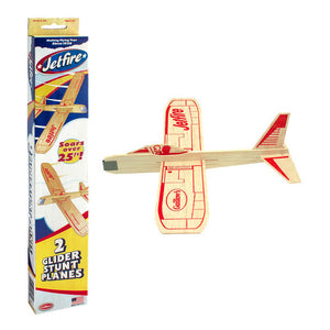 jetfire twin pack glider wood plane toy build your own for kids and children