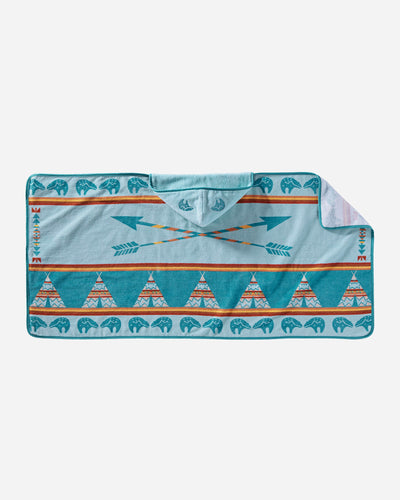 Pendleton Woolen Mills star guardian hooded towel baby wee one child cozy dry off cuddle bath teepee arrow
