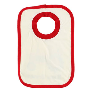 home grown bib cotton red white tractor farming baby infant gift lazy one food spills back