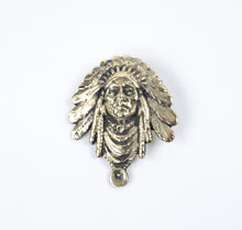 Load image into Gallery viewer, 2013 prix de west collector's bolo tie blair buswell sculptor chief indian headress gold