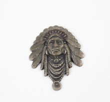 Load image into Gallery viewer, 2013 prix de west collector's bolo tie blair buswell sculptor chief indian headress bronze