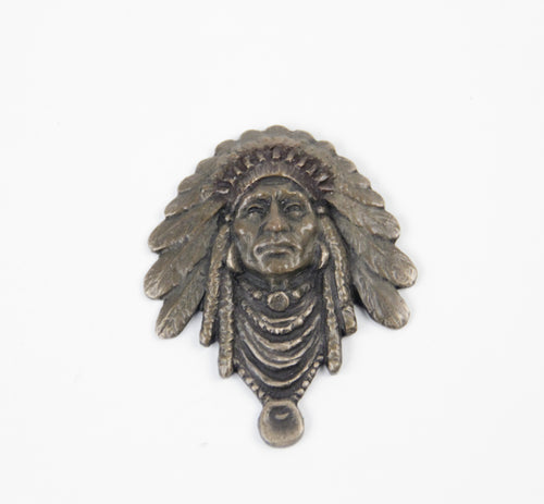 2013 prix de west collector's bolo tie blair buswell sculptor chief indian headress bronze