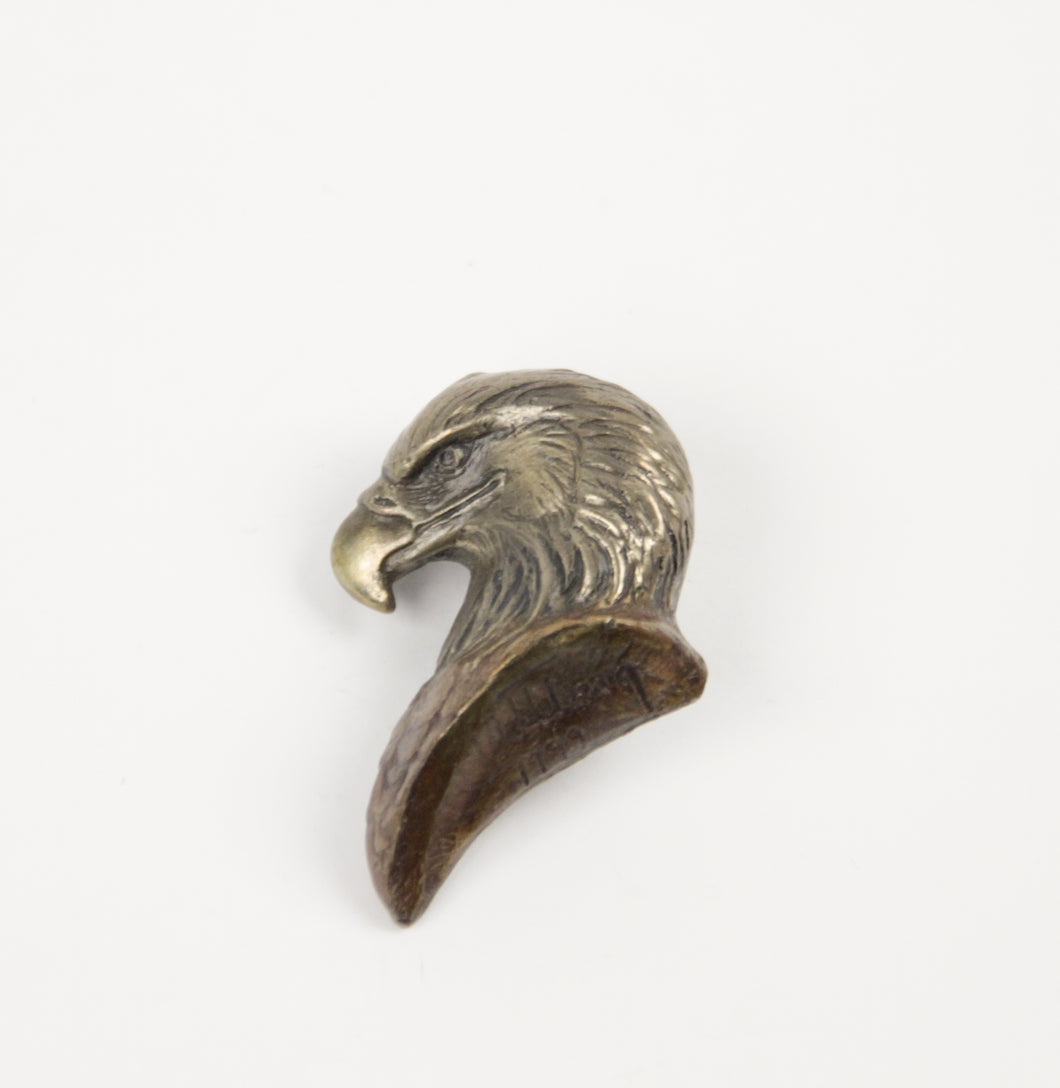 1999 Prix de west bolo award winner Kent Ullberg tie american bald eagle gold or bronze pin bolo horsehair