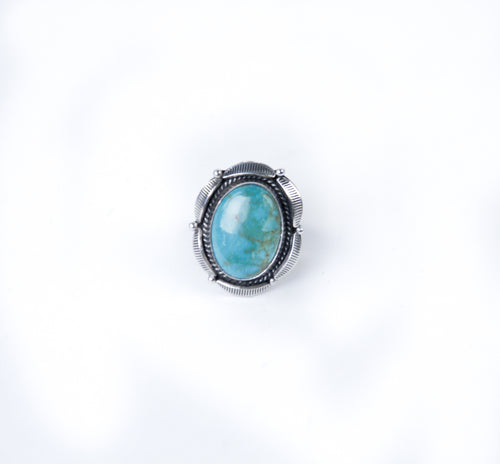 adjustable turquoise ring by silver distinction oval shaped ring native american made jewelry men and women
