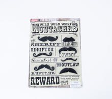 Load image into Gallery viewer, wild wild west mustaches toys facial hair stickers costumes cowboys sheriffs outlaws farmers drifters play time dress up cowboys