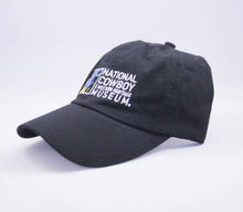 Load image into Gallery viewer, national cowboy and western heritage museum logo baseball cap hat adjustable back strap side view