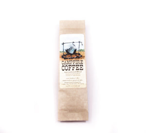 campfire coffee 1.5 ounces of ground coffee dark and light roast blend of morning cup of joe