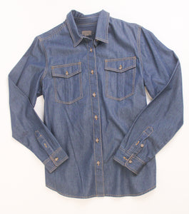 Pendleton woolen mills yuri denim shirt women classic dark wash button front top