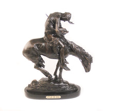 Load image into Gallery viewer, End of the Trail, Large Bronze on Black Marble Base