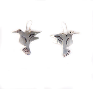 Teller hummingbird earrings dangles jewelry Native American made designs for women nature