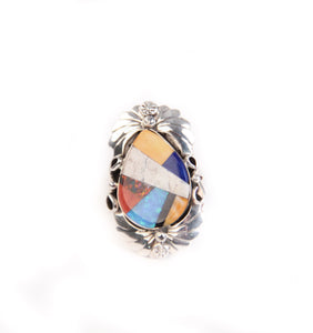 Spiny Oyster and Opal Inlay Ring