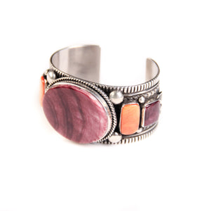 Spiny Oyster Cuff, Purple & Orange