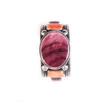 Load image into Gallery viewer, Spiny Oyster Cuff, Purple & Orange