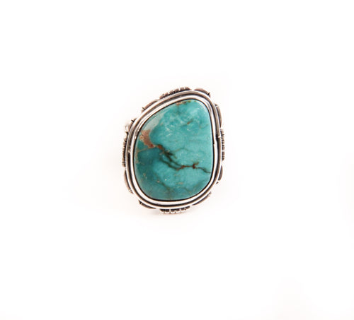 Raw Royston Turquoise Ring