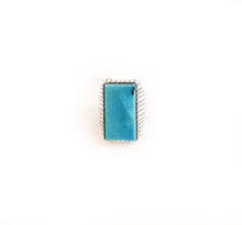 Load image into Gallery viewer, Rectangle Kingman Turquoise Ring