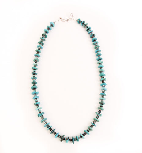 Blue Gem Nugget Necklace
