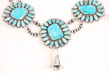 Load image into Gallery viewer, Teller Squash Blossom, Kingman Turquoise