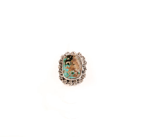 Royston Square Turquoise Ring