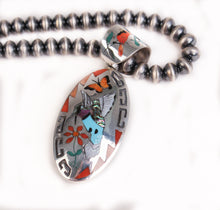 Load image into Gallery viewer, Hummingbird & Bluebird Pillow Bead Necklace