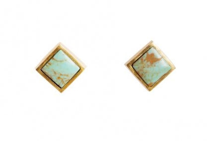 Lavalliere Stud Earrings with Turquoise