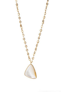 Christina Greene long drop necklace pearl nickel free gold plated casual jewelry