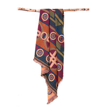 Load image into Gallery viewer, sun symbols blanket woven pattern chickasaw nation oklahoma designers protection Mahota textiles