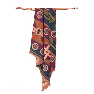 sun symbols blanket woven pattern chickasaw nation oklahoma designers protection Mahota textiles