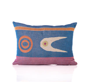 forked eye pillow mahota textiles woven egyptian cotton Chickasaw nation