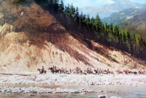Moving Day on the Flathead by Howard Terpning