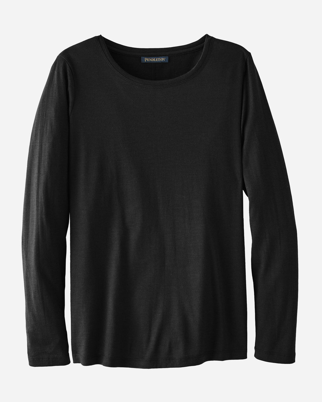 Pendleton Woolen Mills cotton ribbed long sleeve shirt top women black layering clothing