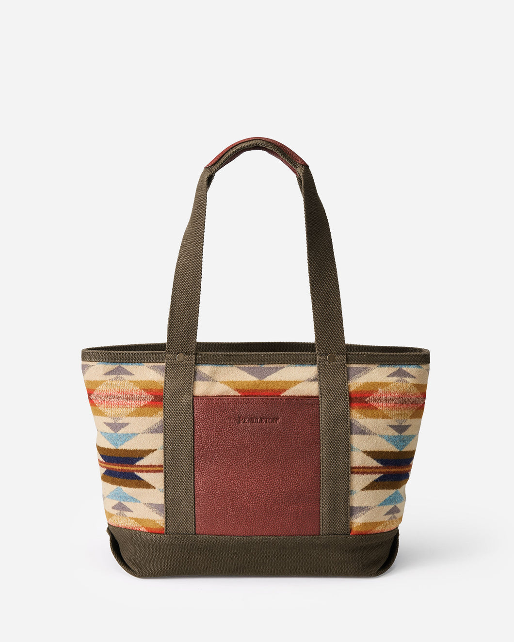 Pendleton woolen mills wyeth trail zip tote pattern wool purse handbag tribal pattern