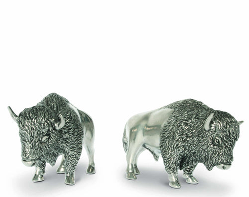 bison salt and pepper set buffalo pewter vagabond house arthur court housewarming dining set wedding gift