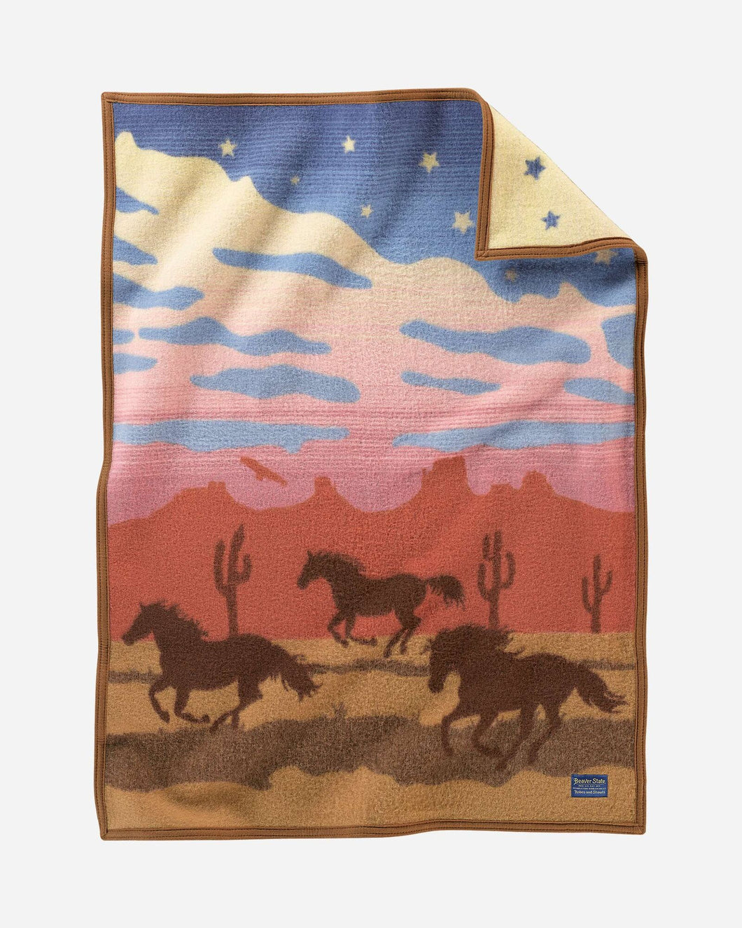Wild Horses Crib blanket Pendleton woolen Mills made in America sunset baby gift wool