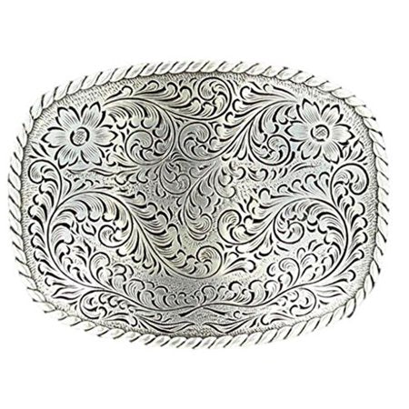Nocona Rectangle Edge Floral Scrolll Buckle