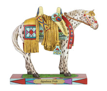 Load image into Gallery viewer, Appaloosa pride painted pony native american saddle horse figurine colorful collectible