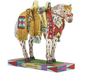 Appaloosa pride painted pony native american saddle horse figurine colorful collectible