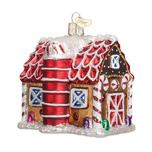 Load image into Gallery viewer, Gingerbread Barn Ornament