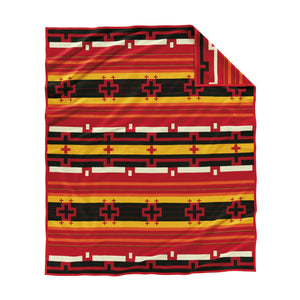 Pendleton woolen mills preservation series robe blanket red PS02 native american art education fundraiser back