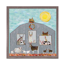 Load image into Gallery viewer, barn party wall art canvas animals under the sunshine alpaca pig goat sheep