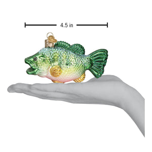 largemouth bass fish ornament glass christmas decoration for the holidays from old world christmas dimensions
