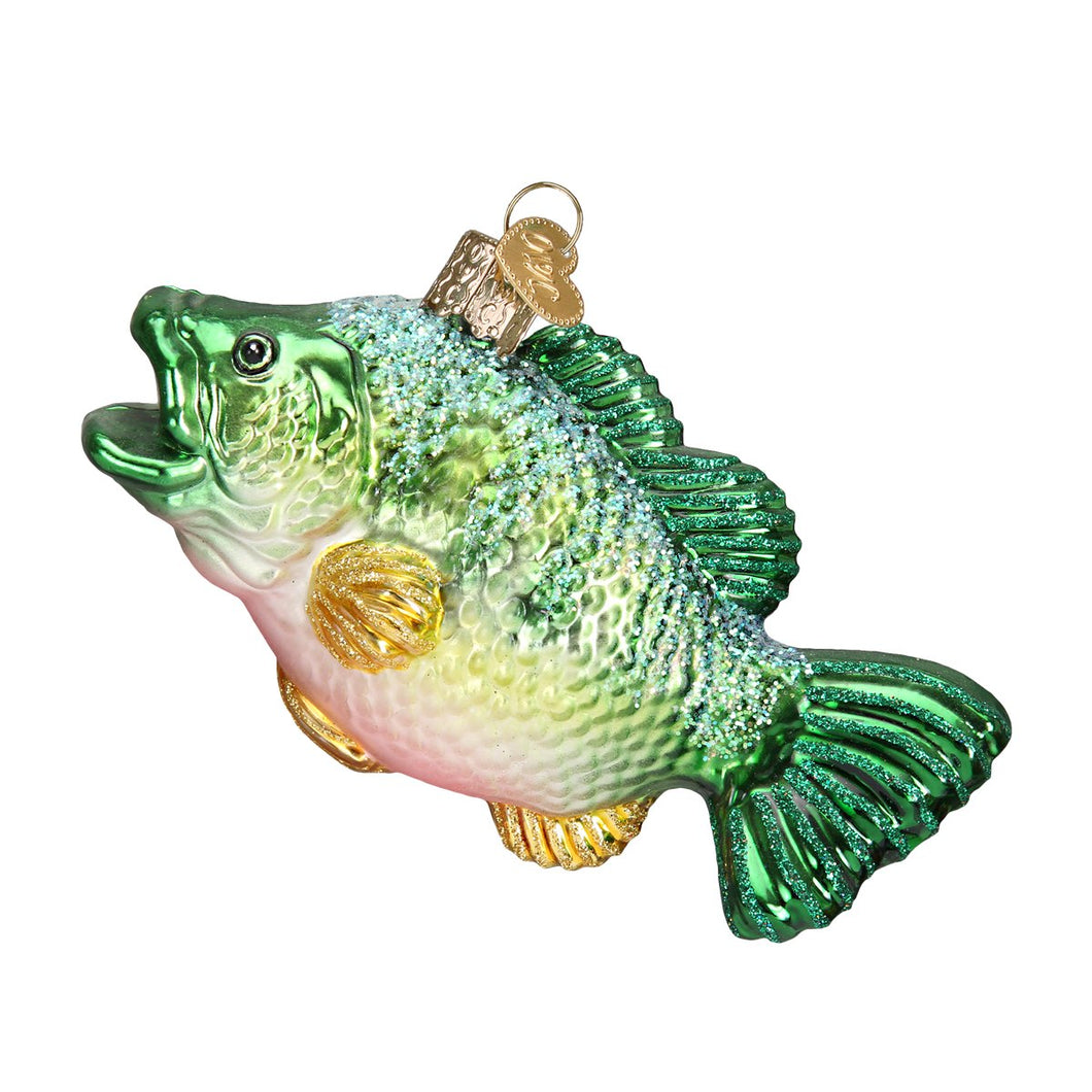 largemouth bass fish ornament glass christmas decoration for the holidays from old world christmas front