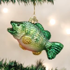 largemouth bass fish ornament glass christmas decoration for the holidays from old world christmas lifestyle